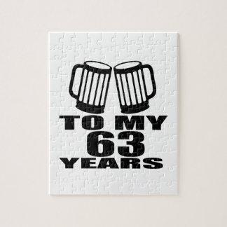 Cheers To My 63 Years Birthday Jigsaw Puzzle
