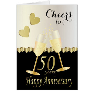 Cheers to Our 50th Anniversary | DIY Text Card