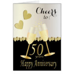 Cheers to Our 50th Anniversary | DIY Text Greeting Card