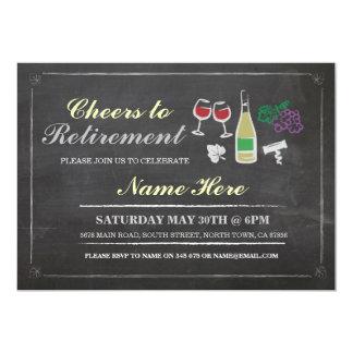 Cheers to Retirement Party Chalk Wine Invitation