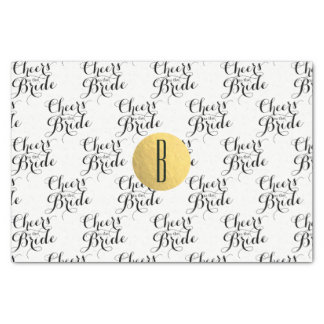 Cheers to the Bride Custom Monogram Bridal Shower Tissue Paper