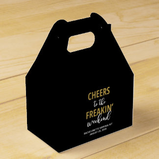 Cheers to the Freakin' Weekend Survival Kit Box Party Favor Box