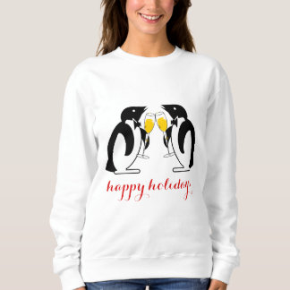 Cheers, Toasting Penguins Sweatshirt