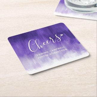 Cheers ultraviolet modern art wash paper coasters