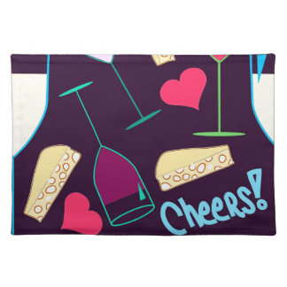 Cheers Wine Party Pattern Placemat