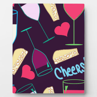 Cheers Wine Party Pattern Plaque