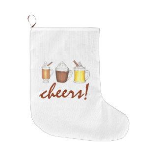 Cheers! Winter Drinks Christmas Holiday Stocking