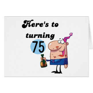 CHEERSTO75 GREETING CARD