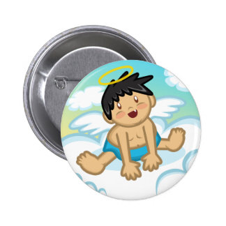 Cheery Baby Boy Angel 2 Button