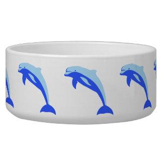 Cheery Blue Jumping Dolphin Cartoon Pet Food Bowls
