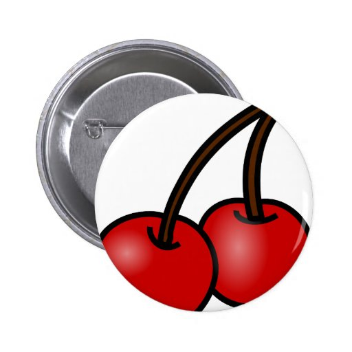 Cheery Cherries Button