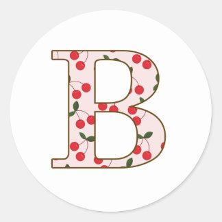 Cheery Cherry B Classic Round Sticker