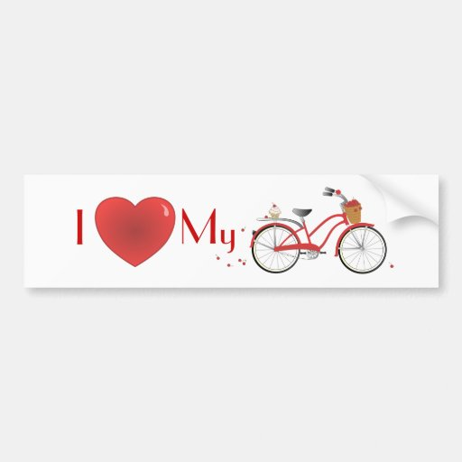 Cheery Cherry Bicycle Bumper Sticker