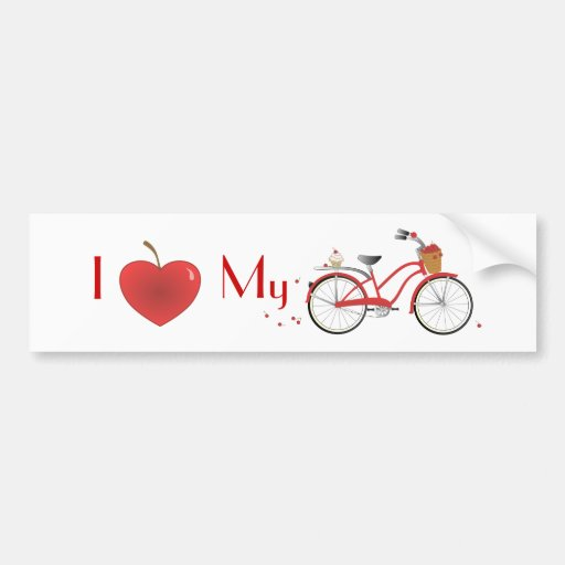 Cheery Cherry Bicycle Bumper Stickers