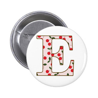 Cheery Cherry E 2 Inch Round Button