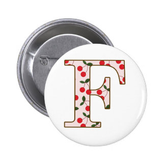 Cheery Cherry F 2 Inch Round Button