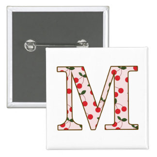 Cheery Cherry M 2 Inch Square Button