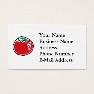 Cheery Cherry Tomato Cartoon Business Card
