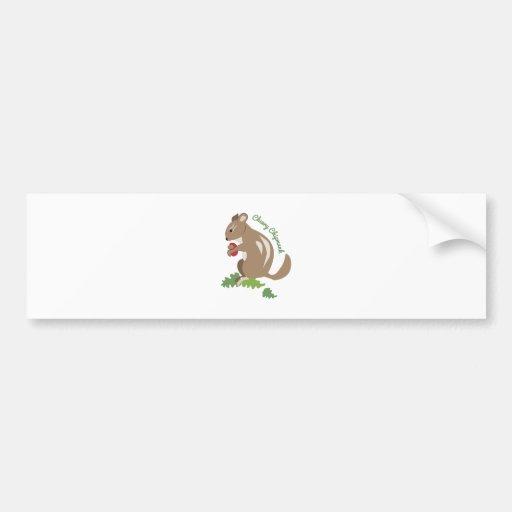 Cheery Chipmunk Bumper Stickers
