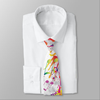 Cheery Colourful Bright Music notes Tie