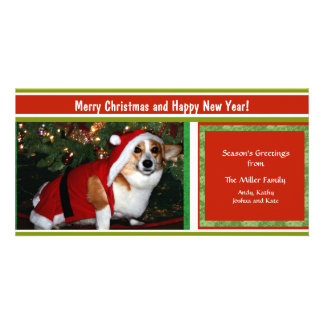 Cheery Holiday Greetings Custom Photo Personalized Personalized Photo Card