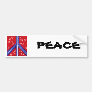 cheery patriotic peace symbol bumper sticker