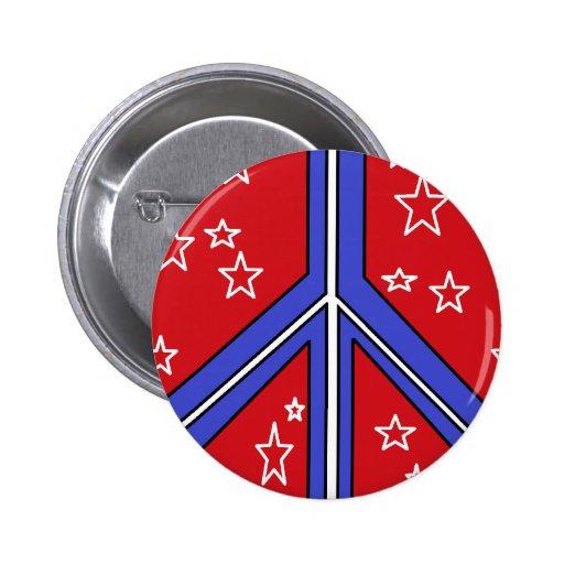cheery patriotic peace symbol button