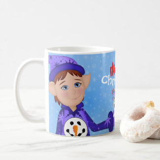 Cheery Red Christmas ELVES! Coffee Mug