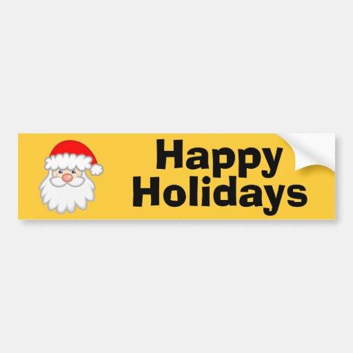 Cheery Santa Bumper Sticker