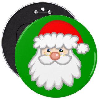 Cheery Santa Button