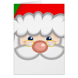 Cheery Santa Card