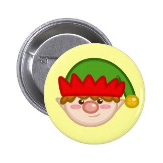 Cheery Santa s Elf Button