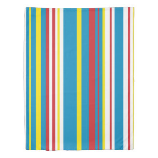 cheery striped duvet cover