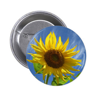 Cheery Sunflower 2 Inch Round Button