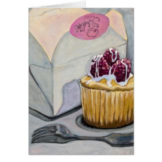 Cheescake Cupcake Greeting Card