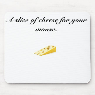 cheese, A slice of cheese for your mouse. Mouse Pad