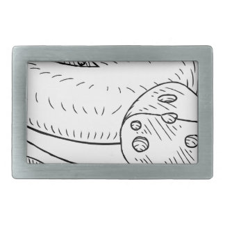 Cheese and Knife Vintage Retro Etching Style Belt Buckles
