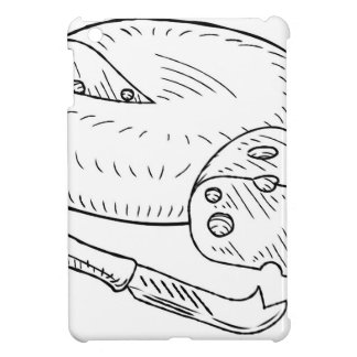 Cheese and Knife Vintage Retro Etching Style iPad Mini Cases