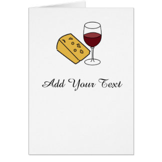 Cheese and Wine Party Custom Greetings Card