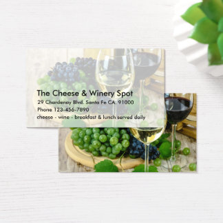 Cheese And Wine Restaurant Business Card