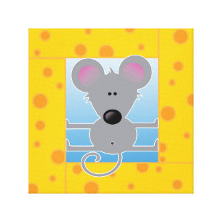 Cheese Block Mouse Canvas Print