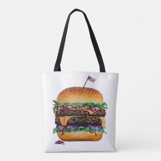 Cheese Burger Tote Bag