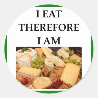 cheese classic round sticker