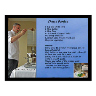 Cheese Fondue Recipe Fondue Postcard
