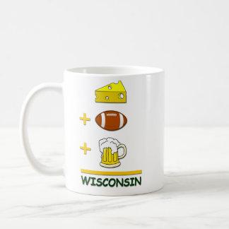 Cheese Football Beer Wisconsin Basic White Mug