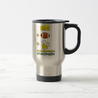 Cheese Football Beer Wisconsin Funny Travel Mug