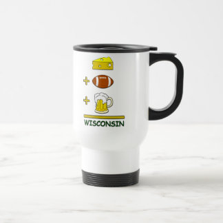Cheese Football Beer Wisconsin 15 Oz Stainless Steel Travel Mug