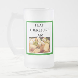 cheese frosted glass beer mug