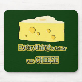 cheese goes with everything mouse pads