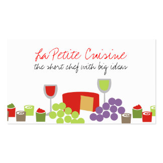 Cheese grapes wine appetizer catering biz cards business card templates